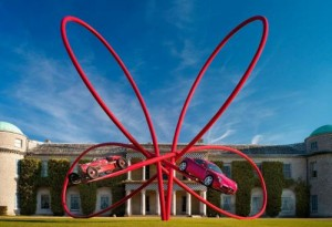 7315282292125150314 300x205 Alfa Romeo constructs sculpture for Goodwood FOS 2010