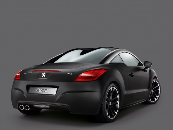 2010 Peugeot RCZ Asphalt Limited Edition Rear Angle View 575x431 2010 Peugeot RCZ Asphalt Edition   Photos, Price, Specifications, Reviews
