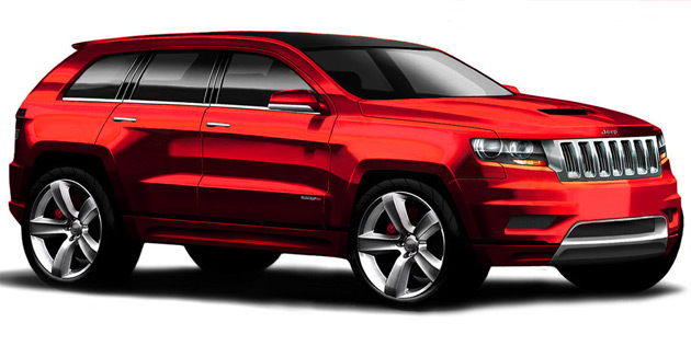 jeep grand cherokee srt8 design sketch img 1 2012 Jeep Grand Cherokee SRT8   Price, Photos, Specifications, Reviews