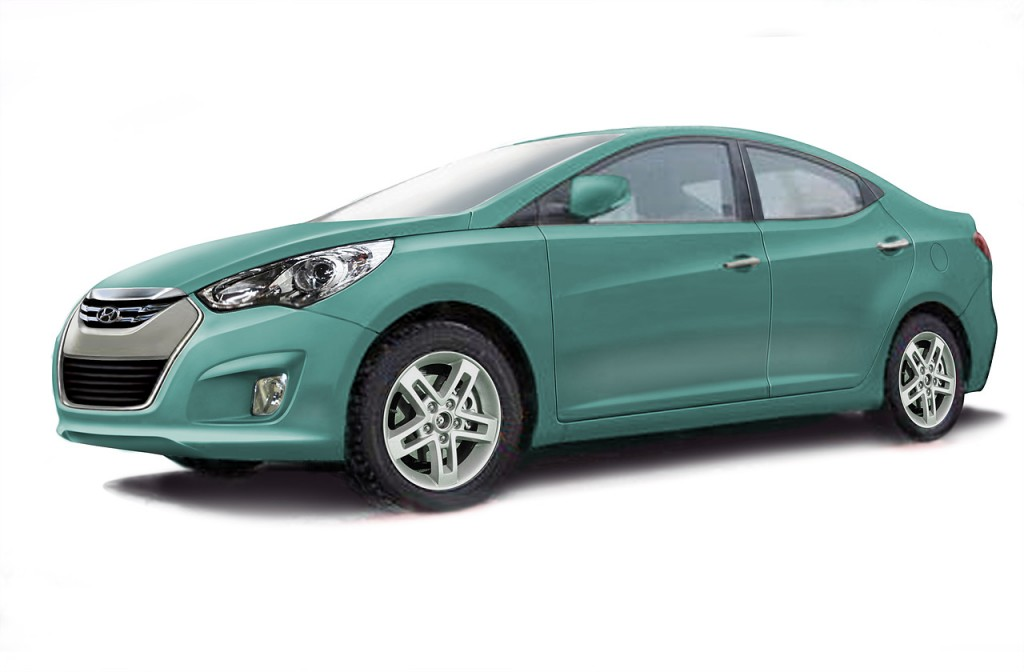 rendering 2011 hyundai elantra 1024x672 2011 Hyundai Elantra  Photos, Reviews, Specifications, Price