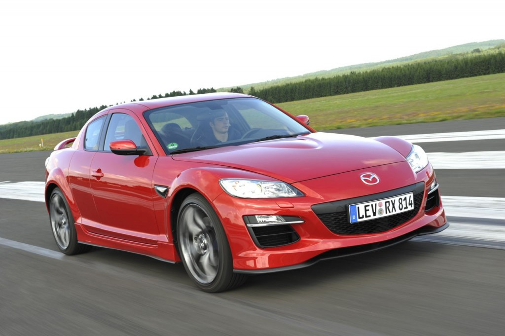 2011 Mazda RX 8 Front Rear View 1024x681 2011 Mazda RX 8   Specifications, Photos, Price, Reviews