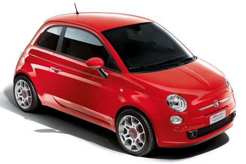 Fiat 500 Rosso Corsa Limited Edition front side view Fiat 500 Rosso Corsa   Features, Photos, Price