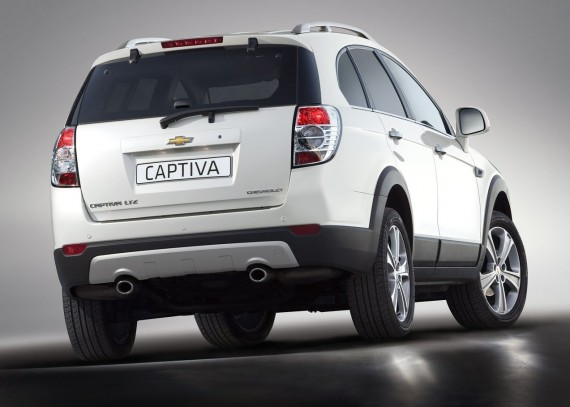 2012 Chevrolet Captiva from Rear View Picture 570x407 2012 Chevrolet Captiva   Photos, Features, Price