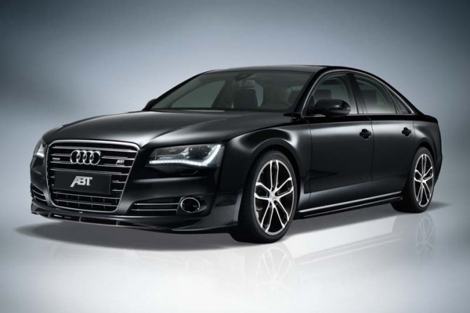 Audi A8 4.2 TDI 2011 Front Side View 670x446 2011 Audi A8 4.2L TDI by ABT   Photos, Features