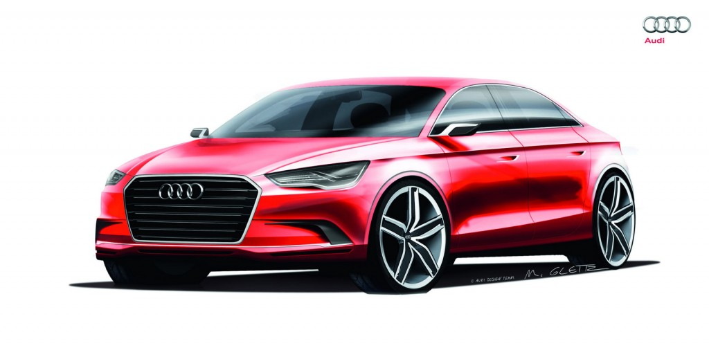 Audi A3 Sedan Concept 1024x506 Audi A3 Concept with 408HP Officially Previews Next Generation Model