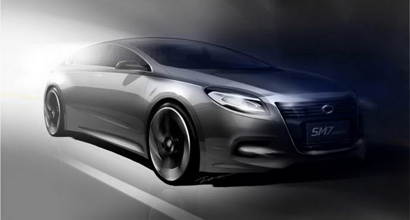 2011 renault sm7 concept teaser sketch1 2011 Renault SM7 Concept Teaser Sketch  More Spacious and Attractive