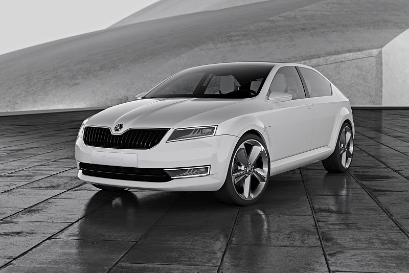2011 skoda visiond concept 1 The 2011 Skoda VisionD Concept Car – Better Outlook with Aerodynamic Features