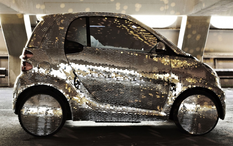 The 2011 Smart Disco Ball  Marvellous Futuristic Car with Glass Cabin