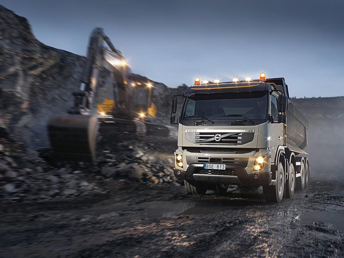 Volvo Fmx Used In World S Longest Tunnel Construction