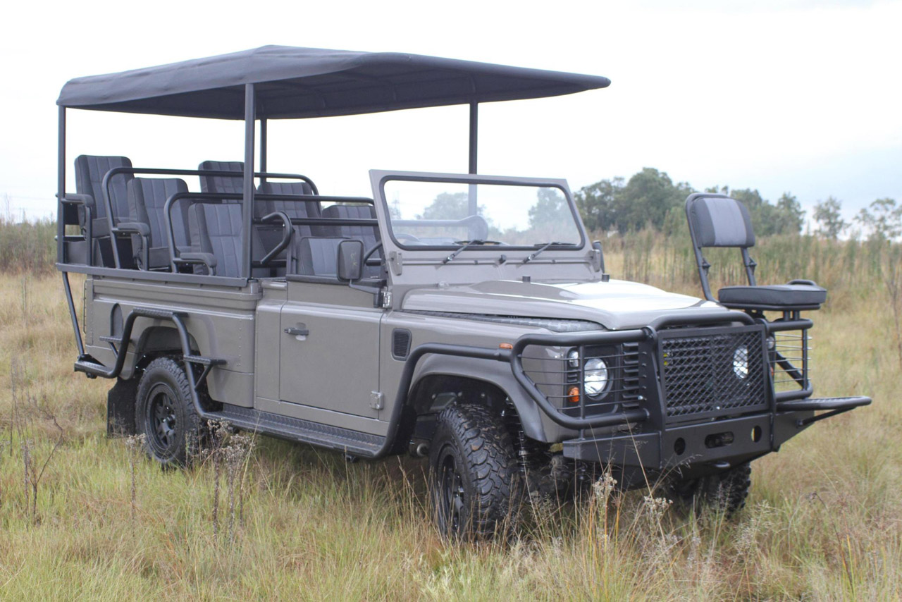 Axeon defender Axeon unveils an all electric Land Rover Defender for safaris