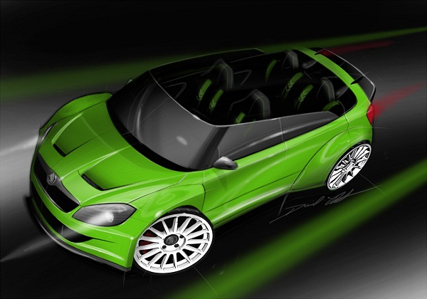 Skoda Fabia RS 2000 concept Design Skoda to Showcase Fabia RS 2000 Roadster Concept at Wörthersee