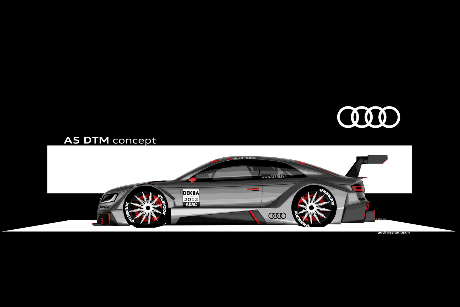 Audi motorsport 1 Audi A5 Coupe DTM Racing Concept Car Review