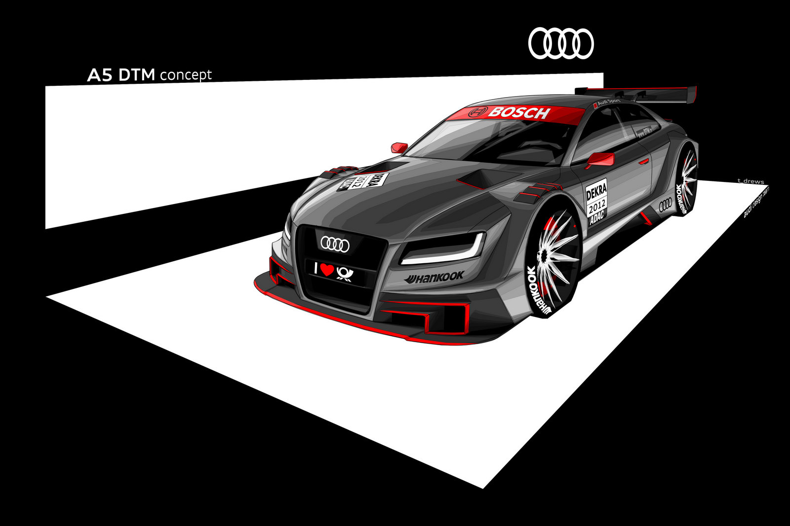 Audi motorsport Audi A5 Coupe DTM Racing Concept Car Review