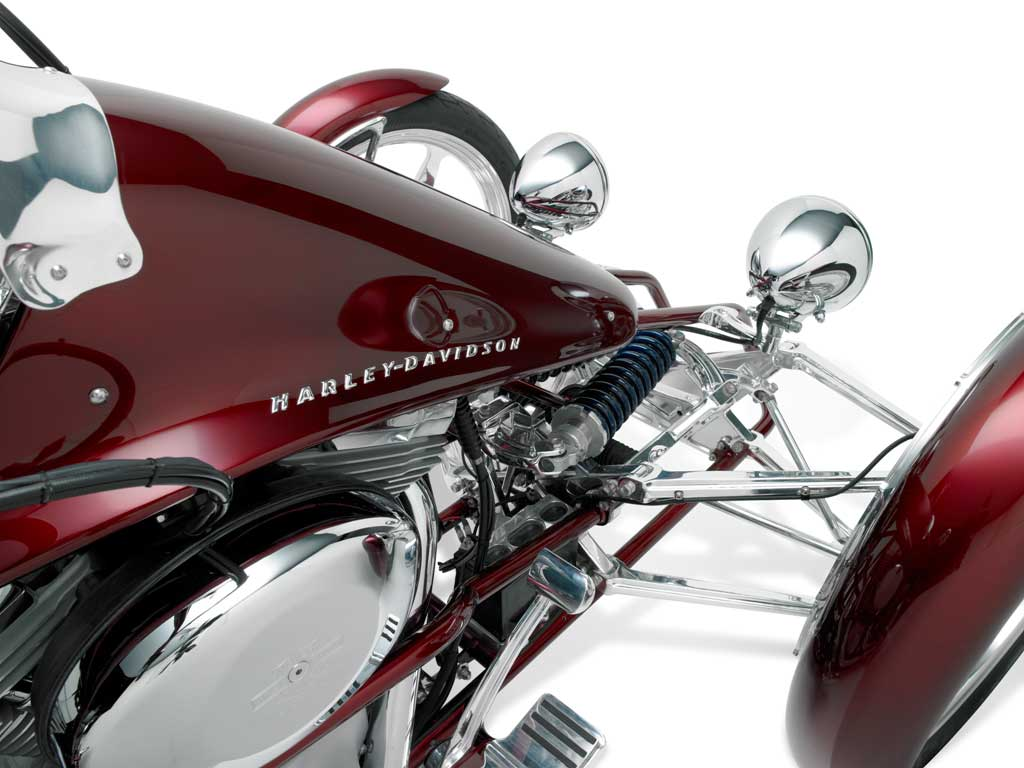 Harley Davidson Penster Harley   Davidson unveils prototypes of its leaning trike named Penster