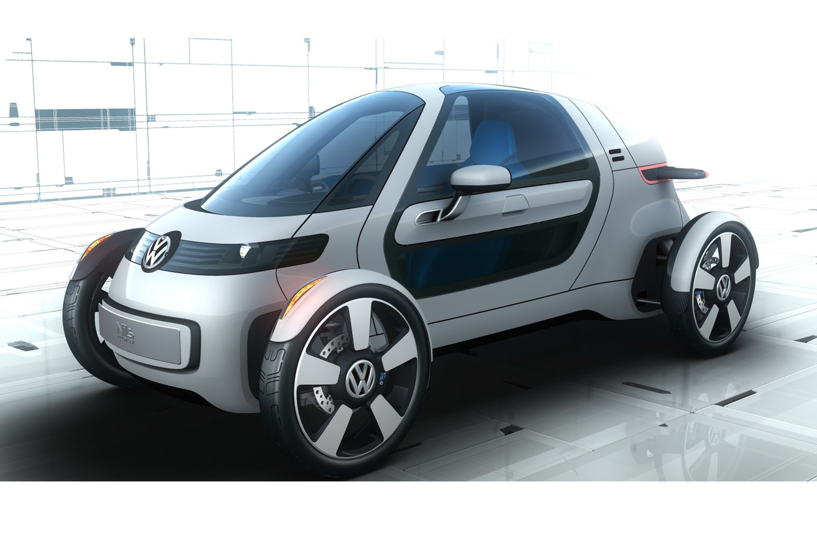 2011 VW NILS 6 THE SINGLE SEATER ELECTRIC CITY CAR 2011 VOLKSWAGEN NILS LAUNCHED IN FRANKFURT SHOW