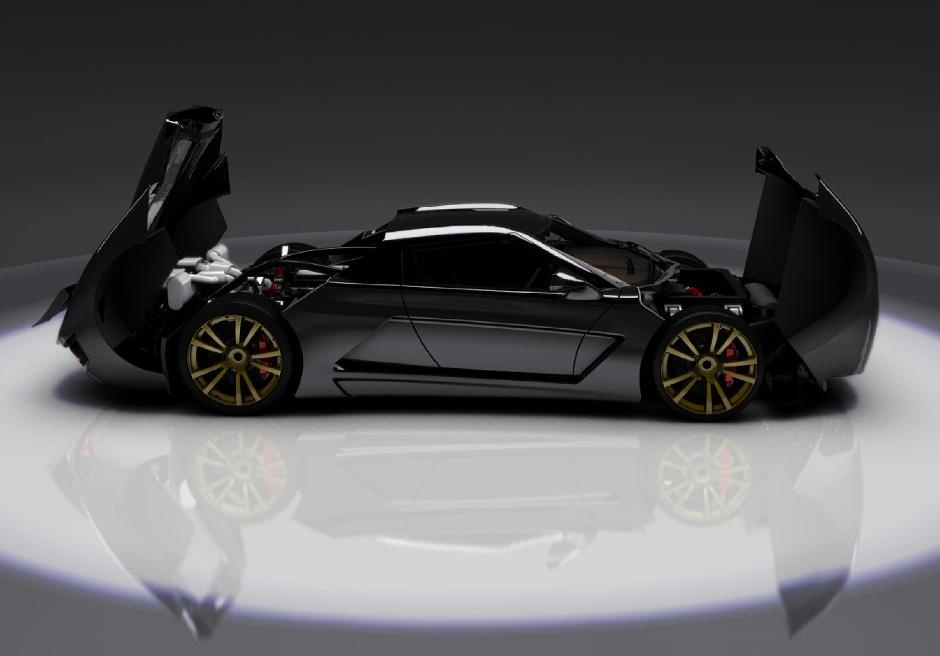 2012 Genty Akylone French Supercar Make Way For the New French Super Car   2012 Genty Akylone 1000 HP!