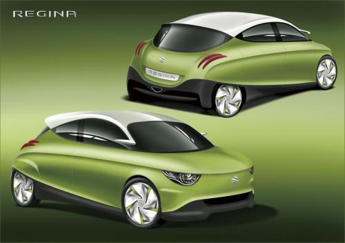 2011 Suzuki Regina Concepts 2 2011 Suzuki Regina, Q and Swift EV Hybrid Concepts   More Sophisticated in Designs