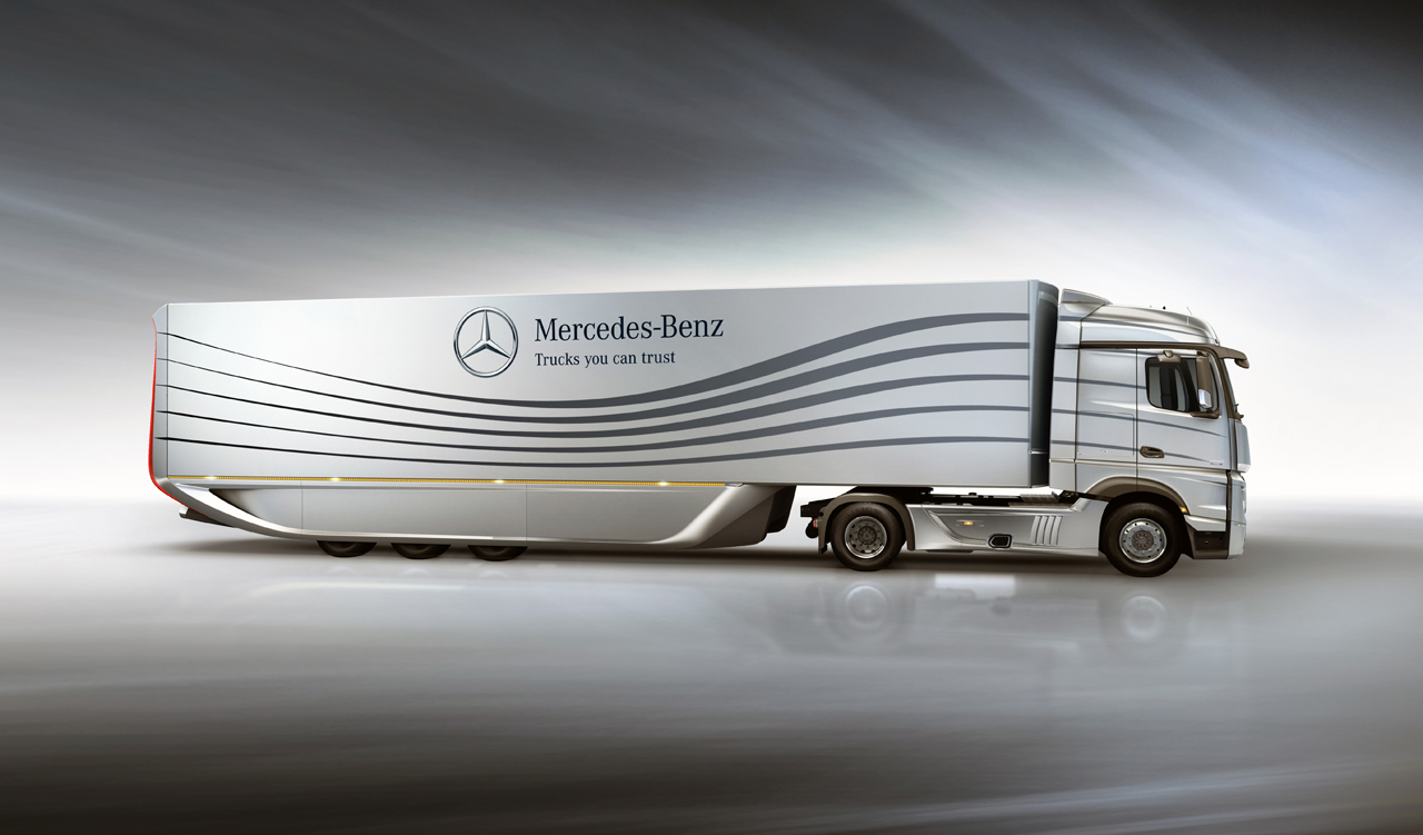 2012 Mercedes Benz Aero Trailer Concept 3 2012 Mercedes Aerodynamic Articulated Vehicle – A Review