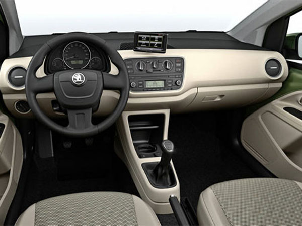 2012 Skoda Citigo Interior View 2013 Mini Skoda Citigo – Upgraded Version with Excellent Technical Features