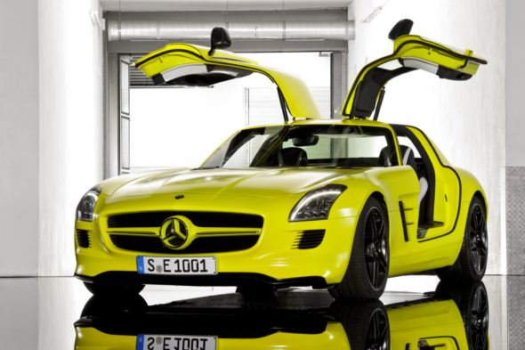 2013 Mercedes Benz SLS AMG E Cell 2 The future of 2013 Mercedes Benz AMG starts with all electric SLS E Cell
