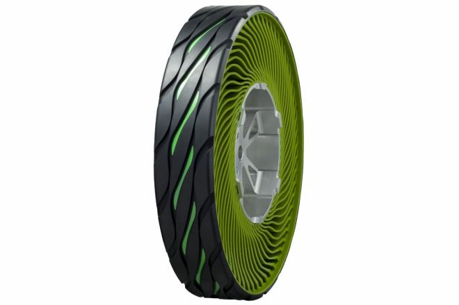 Bridgestone non pneumatic airless tire concept Bridgestone to Manufacture Non pneumatic Tire Bands