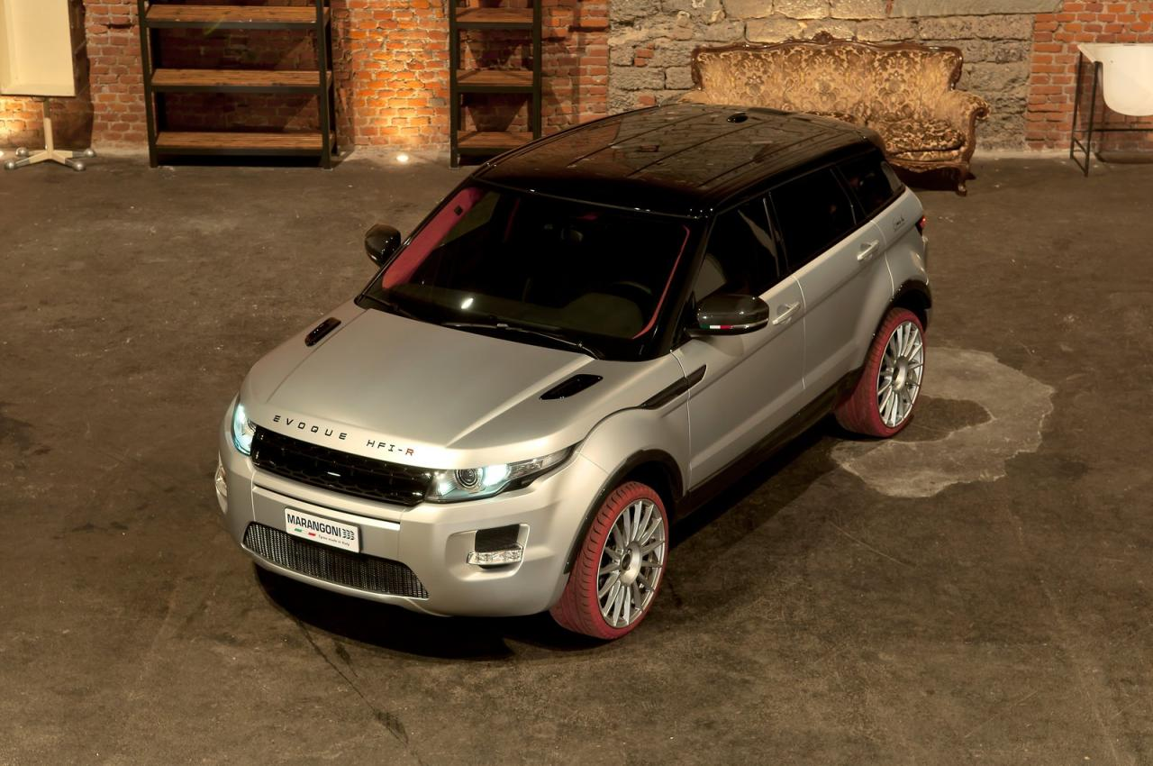 Marangoni Range Rover Evoque HFI R Marangonis 2012 Range Rover Evoque HFI R to Be Beautified Attaching Ruby Red Tire Bands
