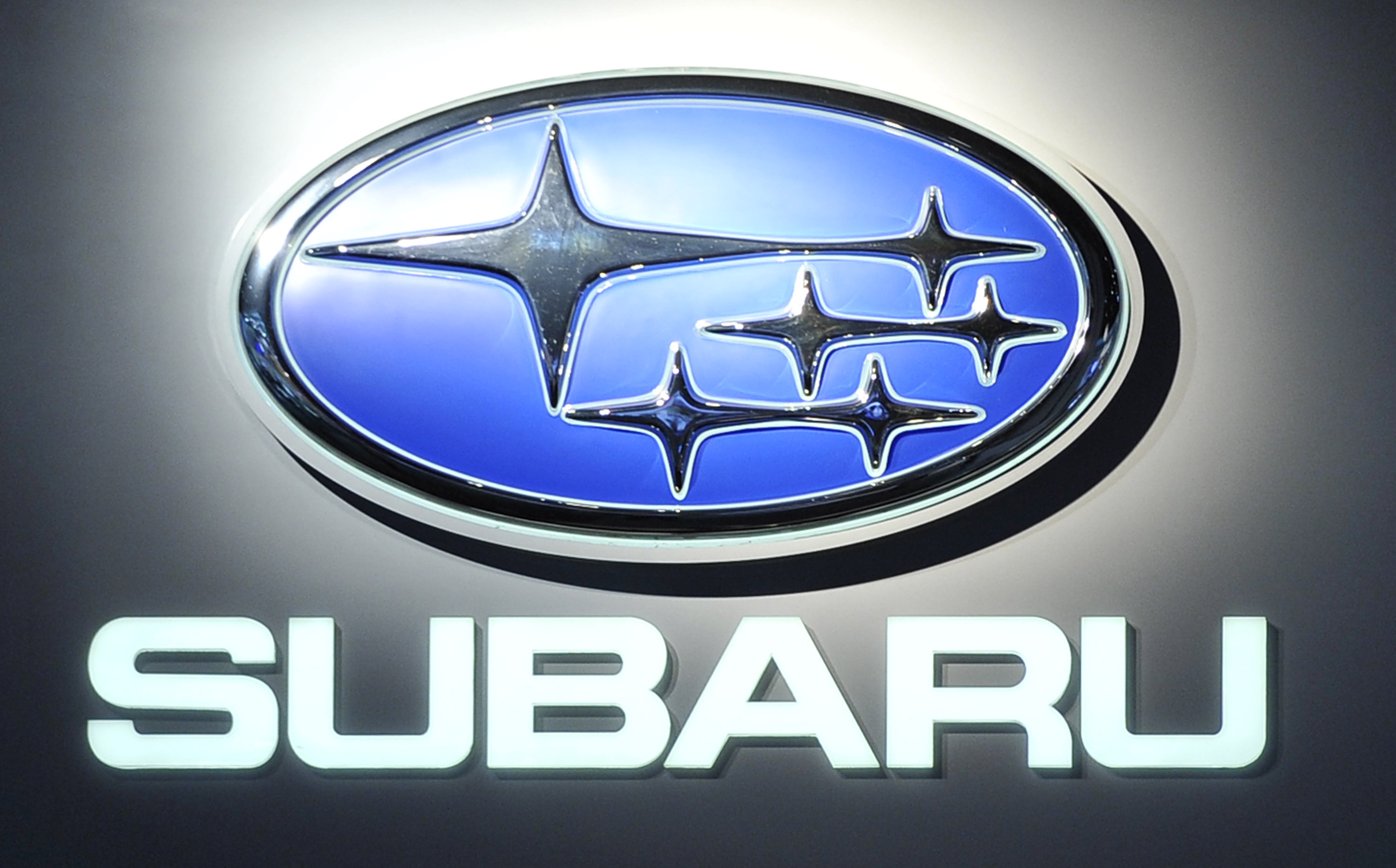 subaru logo displayed at 2011 naias detroit 18 Subaru to Launch New 2011 JDM Impreza Sport Hatch and G4 Sedan