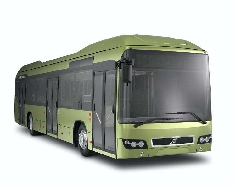 Volvo 7700 Hybrid Bus 2012 Volvo 7700 Hybrid Bus with Low Fuel Consumption Rate