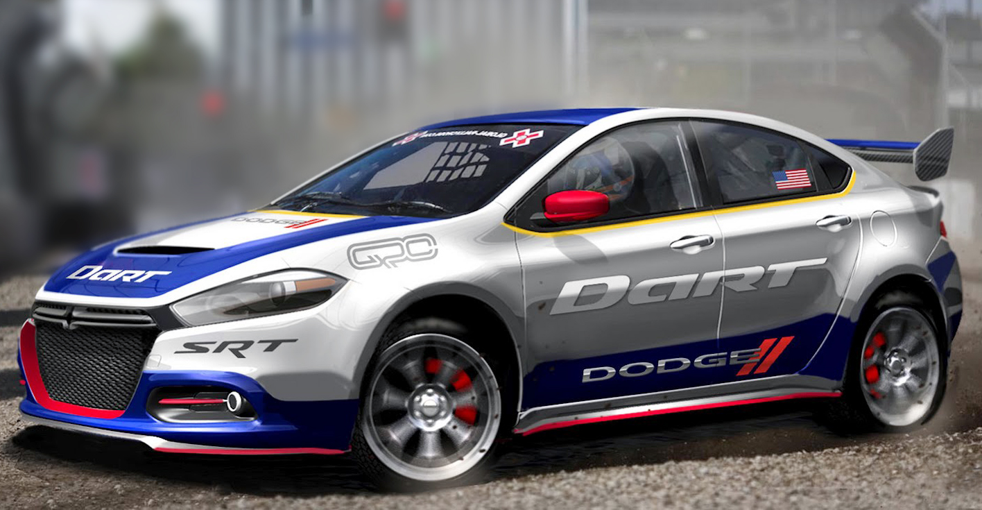 2013 Dodge Dart GCR 2013 Dodge Dart Dresses Up for Global Rallycross