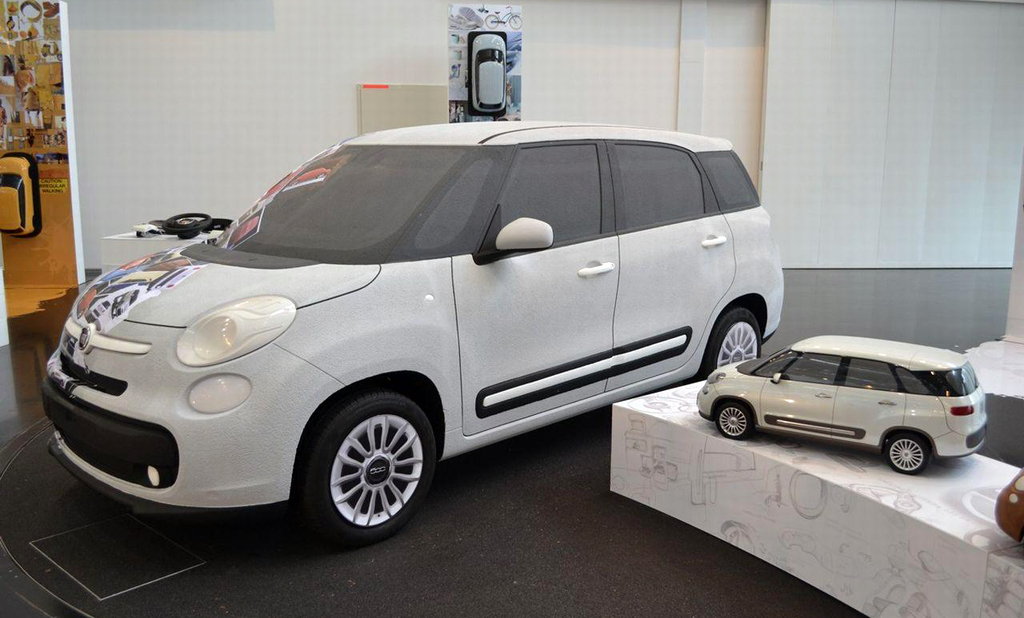 2013 Fiat 500L 7 Seater scale model Fiat with its 2013 500L 7 Seater scale model