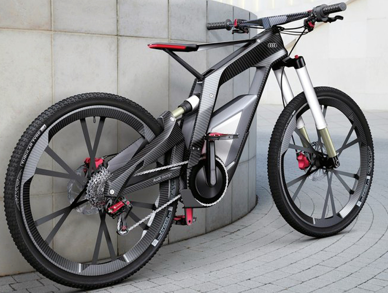 2013 Audi e bike Worthersee Concept 3 2013 Audi e bike Worthersee Concept   with Wheelie Mode to Power Vehicle