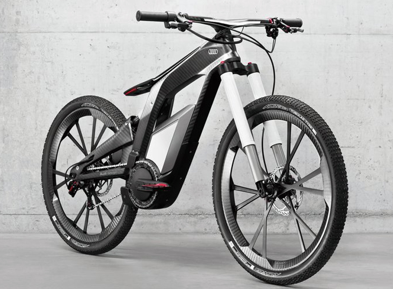2013 Audi e bike Worthersee Concept 2013 Audi e bike Worthersee Concept   with Wheelie Mode to Power Vehicle