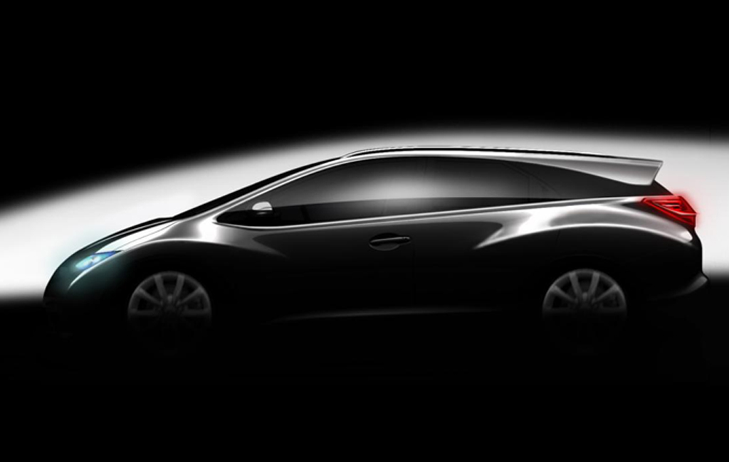 2013 Honda Civic Wagon Honda releases the teaser picture of the 2013 Civic Wagon at the Paris Motor Show
