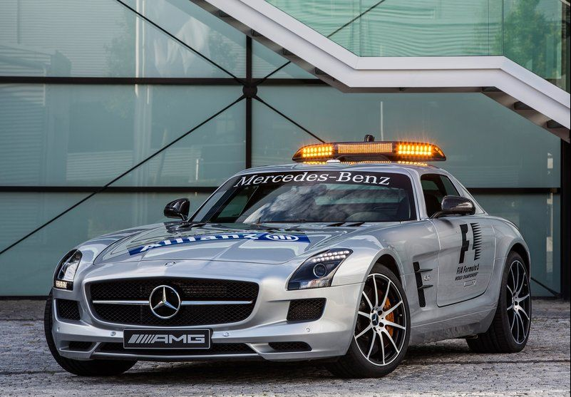 2013 Mercedes Benz SLS AMG GT F1 Safety Car Mercedes Benz new safety car 2013 SLS AMG GT F1 to replace the SLS AMG