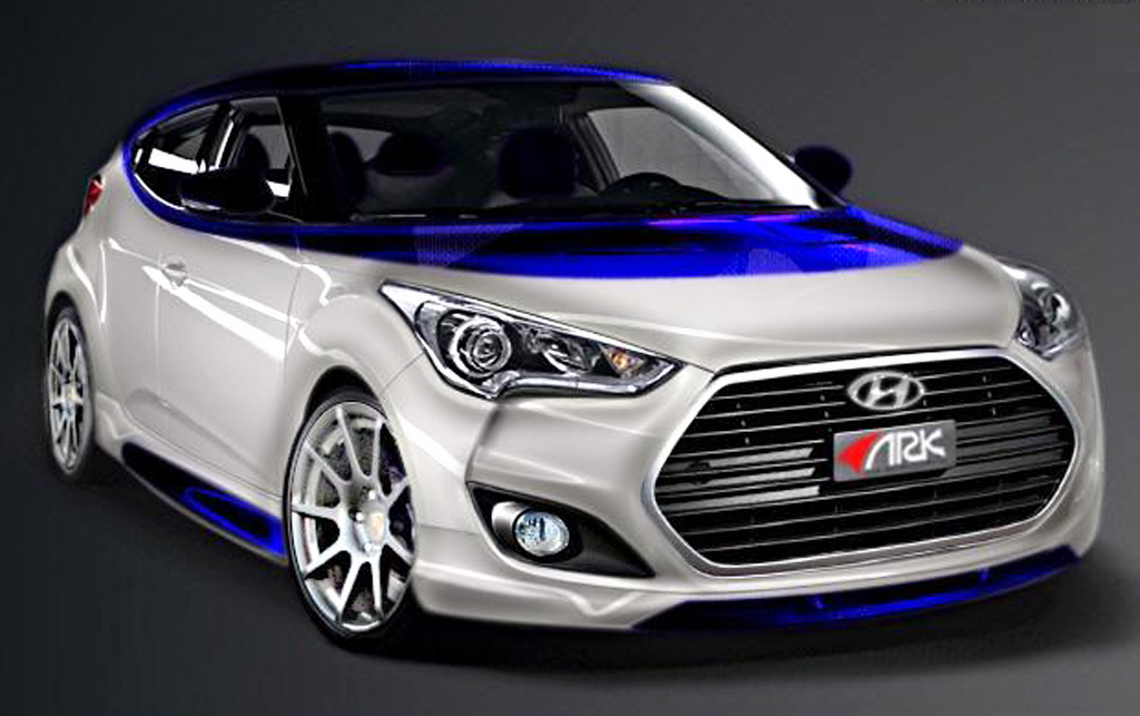 2013 Hyundai Veloster Alpine Concept The Hyundai Veloster's custom concept   'Alpine' will be revealed at SEMA