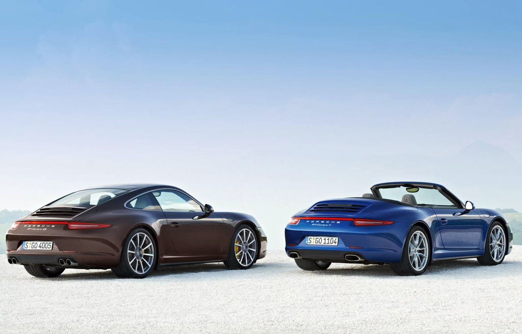 2013 Porsche 911 Carrera 4 and 4S Porsche launches the 911 Carrera 4 & 4S versions at the Paris motor Show