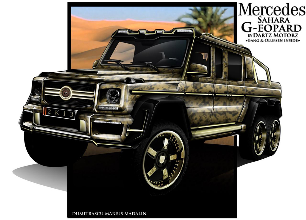 2013 Mercedes Benz G63 AMG 6X6 By Dartz 3 Dartz set to modify the 2013 Mercedes Benz G63 AMG 6X6