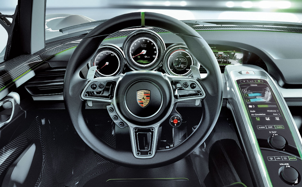 2015 Porsche 918 Spyder Concept Interior 2015 Porsche 918 Spyder photos and details