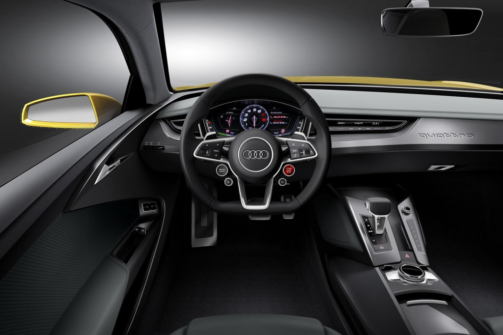 Audi Sport Quattro Concept interior Audi to present the Sports Quattro concept car at Frankfurt motor show