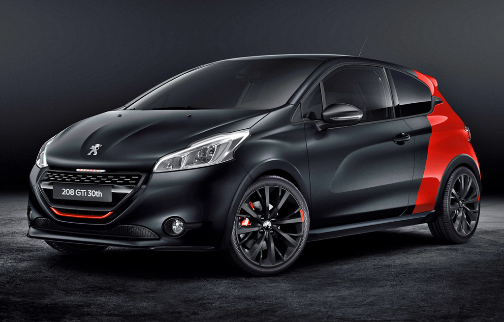 2015 peugeot 208 gti 30th anniversary edition is out now. Black Bedroom Furniture Sets. Home Design Ideas