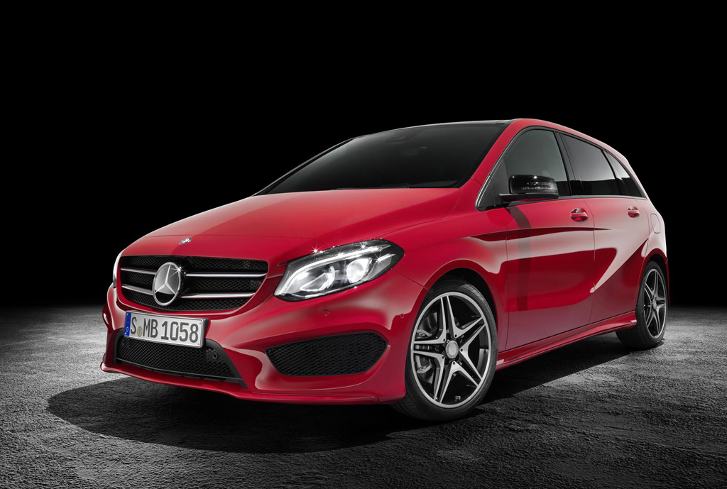 2015 Mercedes Benz B Class facelift 1 Face lifted '2015 B Class' coming soon from Mercedes