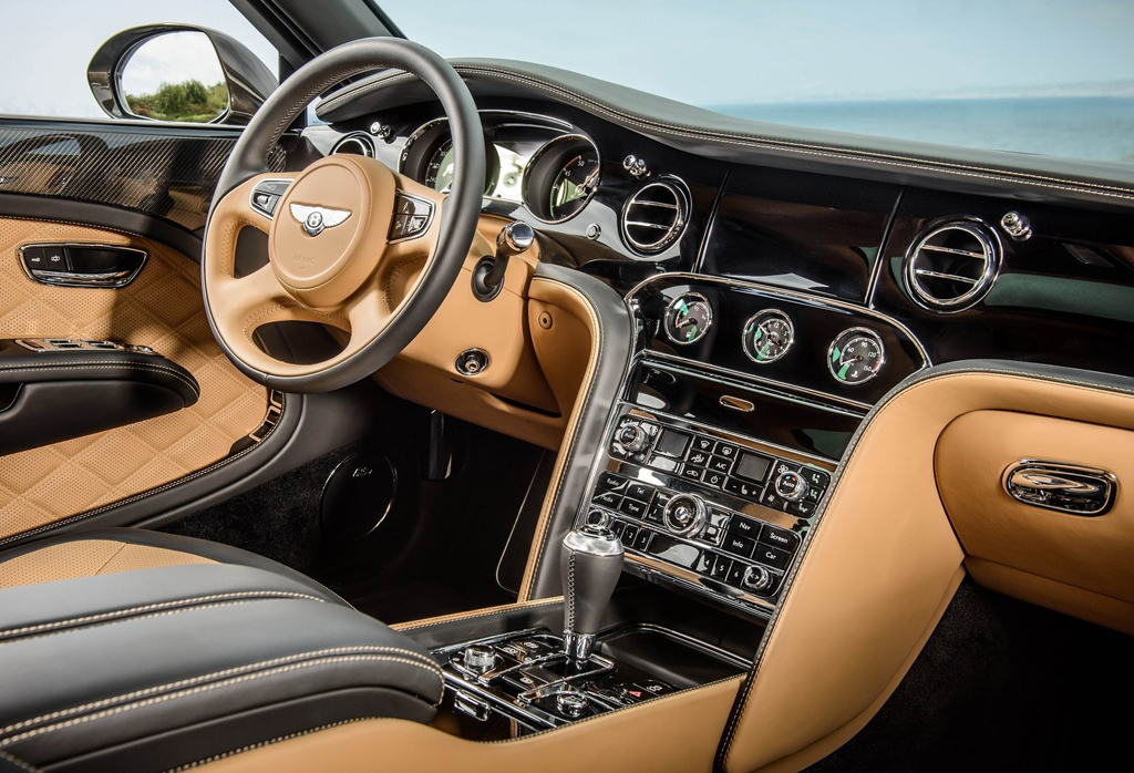 2015 Bentley Mulsanne Speed Interior 1 Bentley Reveals New 2015 Mulsanne Speed