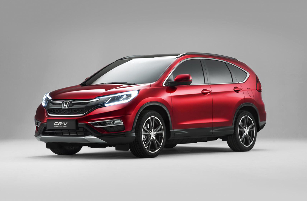 2015 Honda CR V facelift 1 Facelifted 2015 Honda CR V Euro spec First Look