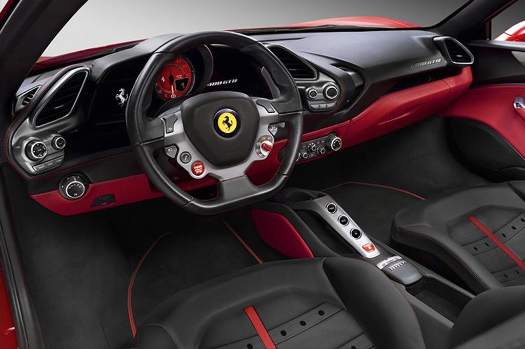 2015 Ferrari 488 GTB Interior Ferrari's new 488 GTB revealed